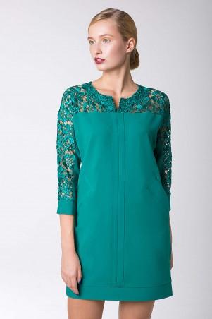 Zefir: Платье с карманами FORS зеленое - главное фото
