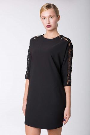 Zefir: Платье коктейльное с кружевом ZARA черное - главное фото
