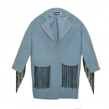 Timbo: Пальто Gven с рюшей Р026718 - главное фото