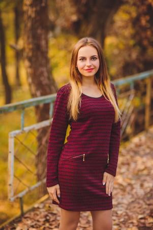BIBI-Brand: Платье Бонита рукав бордовый - главное фото