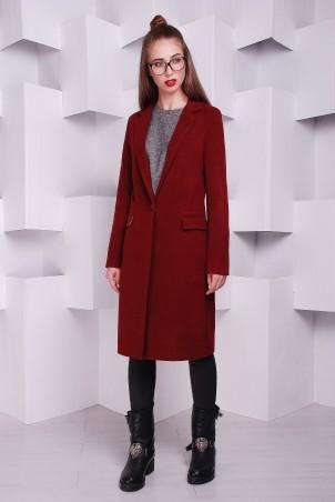 """TessDress: Женское пальто """"Классик"""" марсала 3128 - главное фото"""