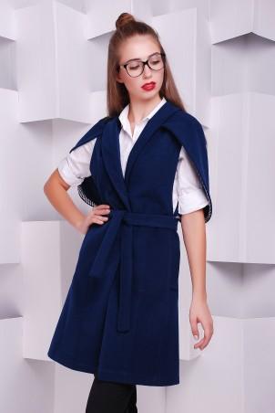 TessDress: Женский кейп из кашемира Blue 3242 - главное фото