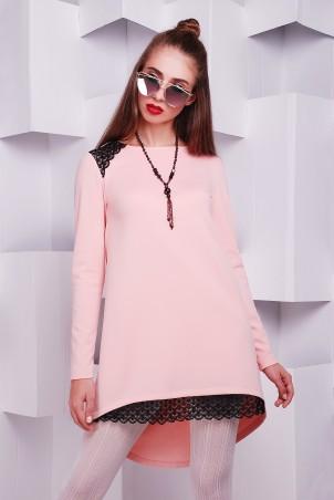 TessDress: Платье с кружевом «Каролина» pink 1409 - главное фото