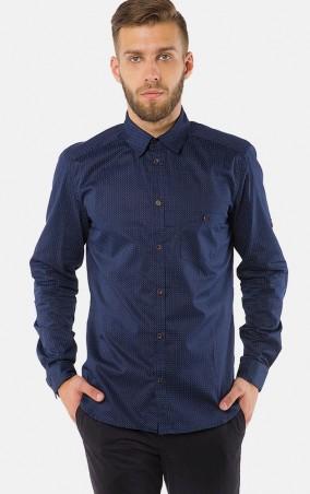 MR520 Men: Однотонная рубашка MR 123 1172 0816 Dark Blue - главное фото