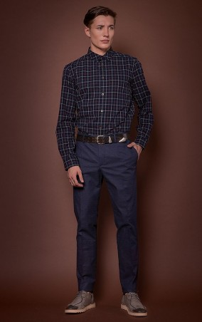 MR520 Men: Рубашка в клетку MR 123 1174 0816 Dark Blue - главное фото