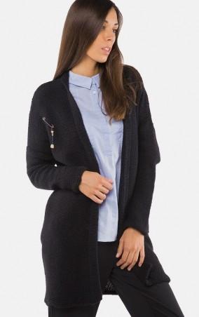 MR520 Women: Длинный вязаный кардиган MR 213 2218 0916 Black - главное фото