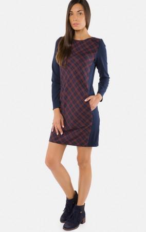 MR520 Women: Платье MR 229 2244 1016 Blue with terracotta - главное фото
