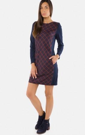 MR520 Women: Платье прямого кроя MR 229 2244 1016 Blue with terracotta - главное фото