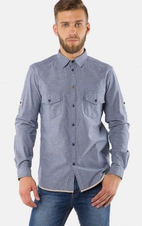 MR520 Men: Однотонная рубашка MR 123 1176 0916 Blue - главное фото