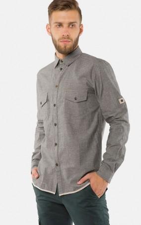 MR520 Men: Однотонная рубашка MR 123 1176 0916 Green - главное фото