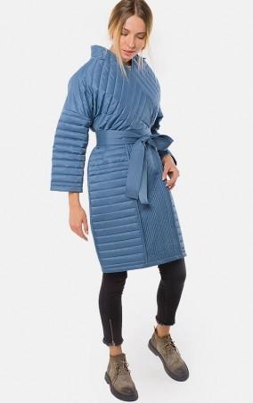 MR520 Women: Демисезонное стеганое пальто - кимоно MR 202 2221 0916 Blue - главное фото