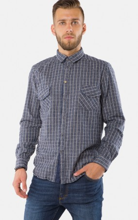 MR520 Men: Рубашка MR 123 1177 1016 Grey - главное фото