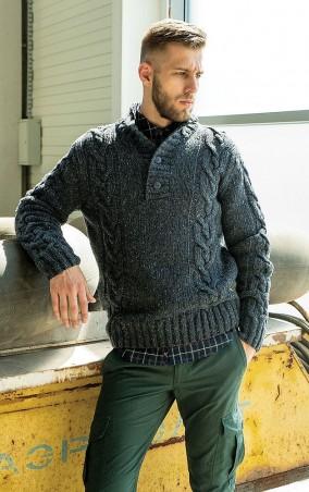 MR520 Men: Вязаный свитер (джемпер) MR 121 1182 0816 Dark Blue - главное фото