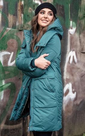 MR520 Women: Пальто oversize (оверсайз) зимнее MR 202 2225 1016 Sea Green - главное фото