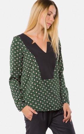 MR520 Women: Блуза MR 217 2204 0916 Dark Green - главное фото