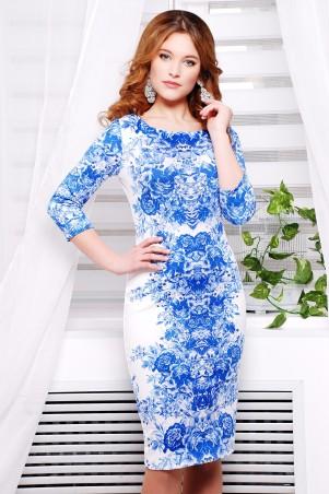 Glem: Платье Розы синие  Лоя-1Ф д/р - главное фото
