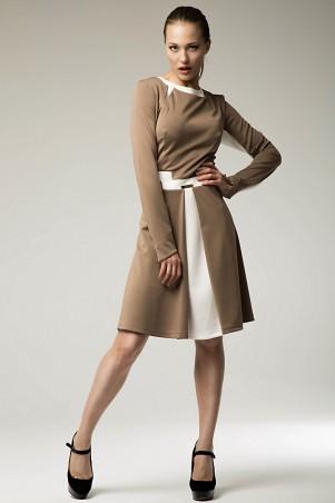 RicaMare: Короткое платье с контрастом из ткани RM159 - главное фото