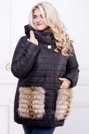 Riches: Зимняя куртка с меховыми карманами 574 - главное фото