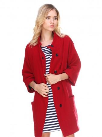 "InRed: Пальто ""Tango"" красное 7252 - главное фото"