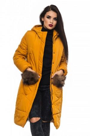 Кариант: Куртка зима Эля-горчичный - главное фото