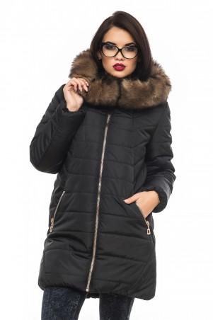 Кариант: Куртка зима Барбара-черный - главное фото