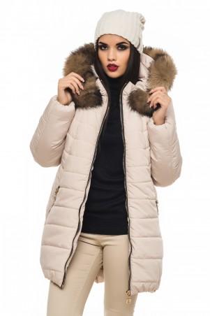 Кариант: Куртка зима Барбара-бежевый - главное фото