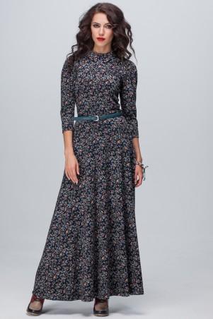 Jet: Платье АДЕЛИНА MAXI модал Цветик бирюза 1106M-5128 - главное фото