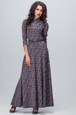 Jet: Платье АДЕЛИНА MAXI модал Цветик сирень 1106M-5134 - главное фото