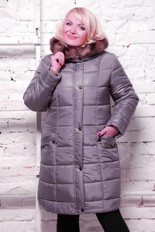 Vicco: Куртка зимняя BABOCHKA NEW (цвет Серый) 1614 - главное фото