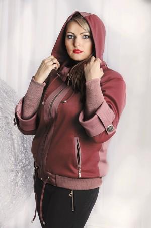 "Vicco: Куртка Куртка ""Veronika"" (цвет марсала/т.розовый) 2348 - главное фото"