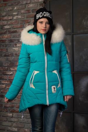 Vicco: Куртка зимняя ANGELIKA (бирюза) 4098 - главное фото