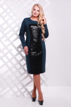 Tatiana: Платье с  пайетками темно-зеленое ASTI - главное фото