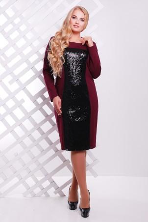 Tatiana: Платье с  пайетками бордо ASTI - главное фото