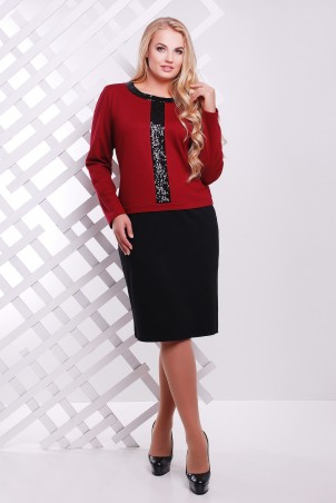 Tatiana: Платье с декором из пайеток бордо АМИРА - главное фото