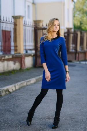 Ляпота: Платье комбинированое синее 3012-1 - главное фото