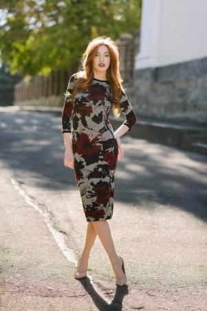 Ляпота: Платье миди принт 3007 - главное фото