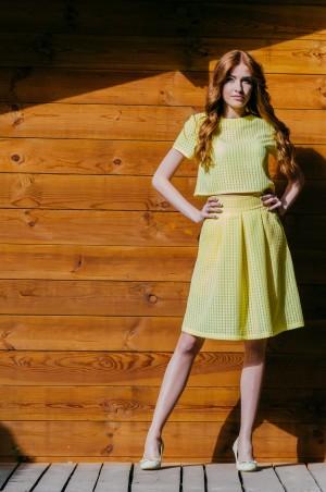 Ляпота: Платье миди с открытыми плечами бордо 3006 - главное фото