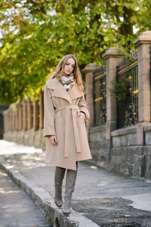 Ляпота: Пальто с поясом 1046 - главное фото