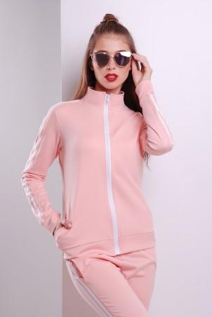 """TessDress: Кофта с молнией от костюма """"Восторг"""" pink 5065 - главное фото"""
