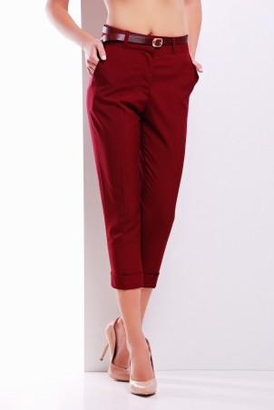 MarSe: Капри с поясом 1622 бордовый - главное фото