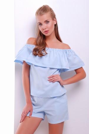 MarSe: Комплект (Блуза И Шорты) 1612 голубой - главное фото