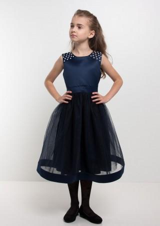 """Sofia Shelest: Платье """"Венера"""" синий 140(р) 000259 - главное фото"""