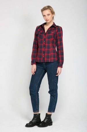 Zefir: Рубашка с кружевной кокеткой BARE красная - главное фото