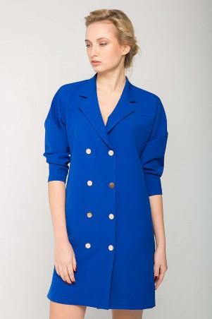 Zefir: Двубортное платье на кнопках KIM электрик - главное фото