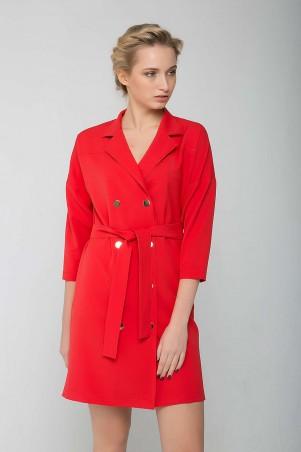 Zefir: Двубортное платье на кнопках KIM красное - главное фото