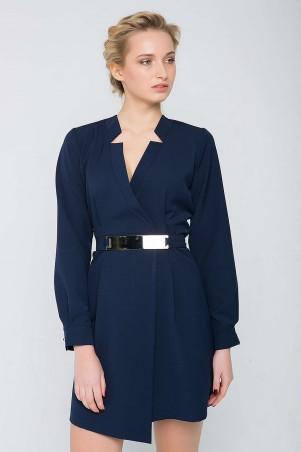 Zefir: Платье с запАхом и пояском CHERRI темно-синее - главное фото