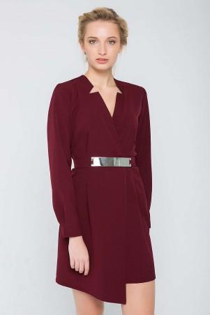 Zefir: Платье с запАхом и пояском CHERRI бордо - главное фото