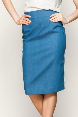 Marterina: Юбка-карандаш из синего джинса K01U01J04 - главное фото