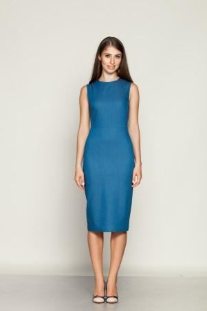 Marterina: Платье-футляр классическое из синего джинса K01P24J04 - главное фото