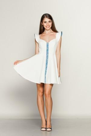 Marterina: Платье-солнце корсетное из белого коттона K01P20CT01 - главное фото